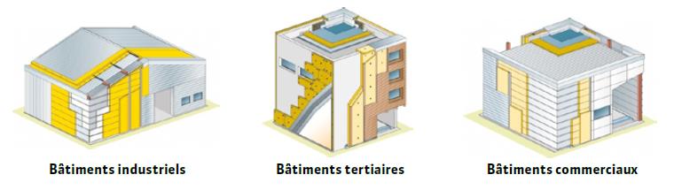Batiment non residentiel isover