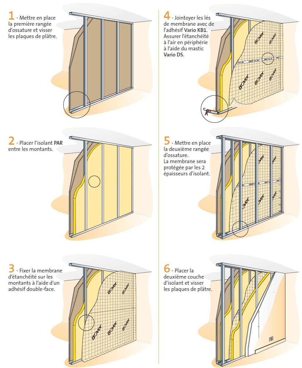 tanch it l 39 air des cloisons d 39 une maison. Black Bedroom Furniture Sets. Home Design Ideas